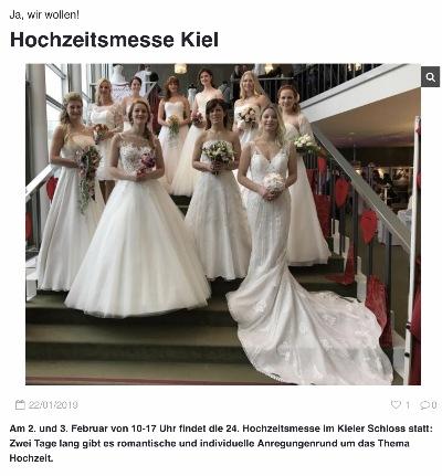 Hochzeitsmesse Kiel Festival Der Hochzeit 2019 Im Kieler Schloss